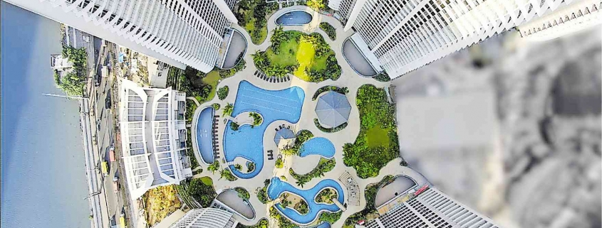 Proscenium | Pool Aerial view